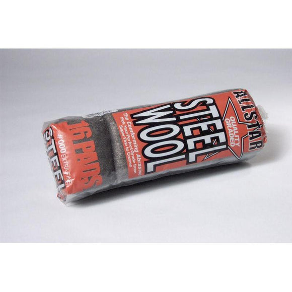 Grade 000 Steel Wool Sleeve 16 Pad/Sleeve-Steel Wool & Abrasives-Hi Tech Industries-73016