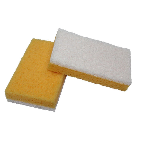 HD Scrub Sponge - White (12/pack)-Sponges-Hi Tech Industries-WX-12