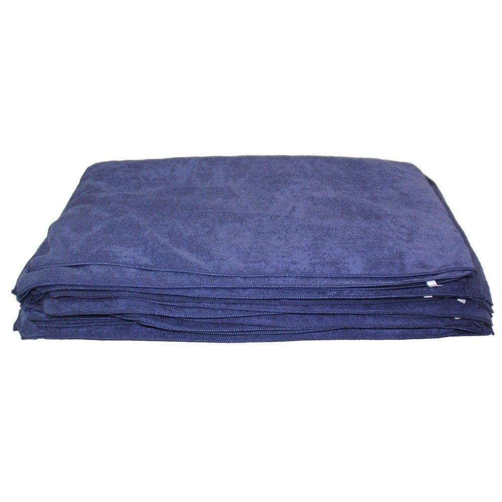 "Deluxe Detailing Towel Value Pack - 15"" x 25"" Blue-Microfiber-Hi Tech Industries-DDT-50BU"