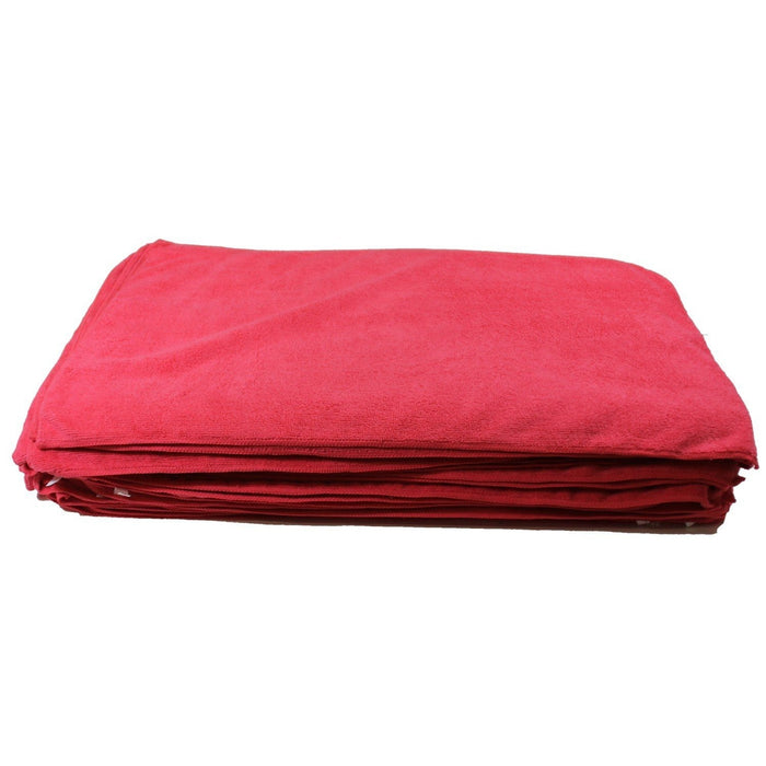 "Deluxe Detailing Towel Value Pack - 15"" x 25"" Red-Microfiber-Hi Tech Industries-DDT-50RED"