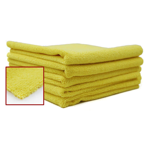 "Edgeless Deluxe Microfiber Detailing Towel - 16"" x 16"" - 4/bag-Microfiber-Hi Tech Industries-DDT-EL1616Y-4"