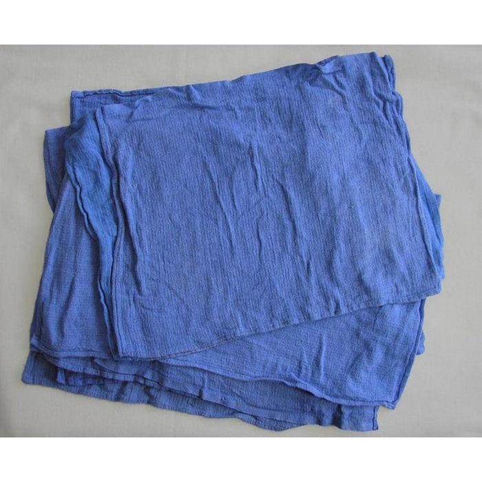 """Huck"" Towels - Blue - Lint Free 10 lb. Box (~5 doz)"