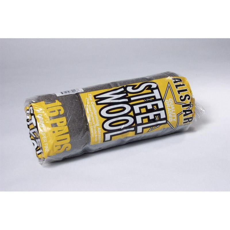 Grade 0000 Steel Wool Sleeve 16 Pad/Sleeve