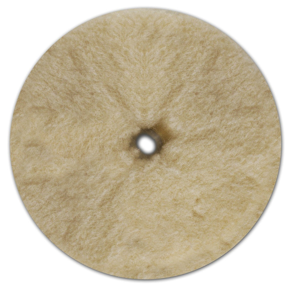"Prewashed Lambs Wool Buffing - 7.5""-Hi-Buff® Wool and Microfiber Pads-Hi Tech Industries-HB-LW750"