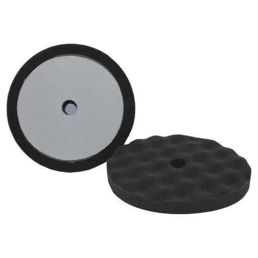 "8"" Final Finish Black Waffle Foam (2/Pk)"