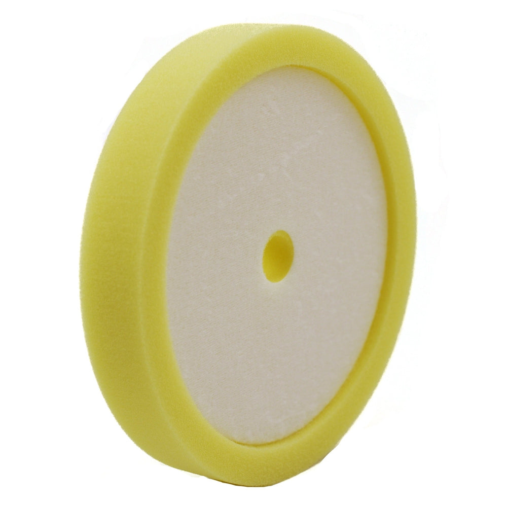 "8"" Medium Cut Yellow Recessed Foam-Hi-Buff® Foam Pads-Hi Tech Industries-HB 802"