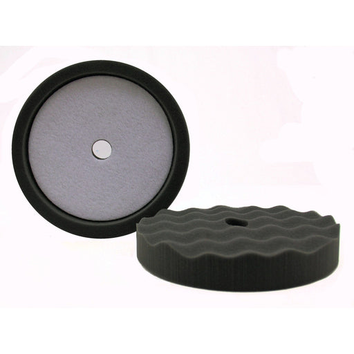 "8"" Final Finish Black Waffle Foam-Hi-Buff® Foam Pads-Hi Tech Industries-HB 805C"