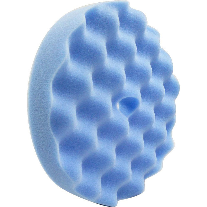 "8"" Ultrafine Light Blue Waffle Foam-Hi-Buff® Foam Pads-Hi Tech Industries-HB 807C"