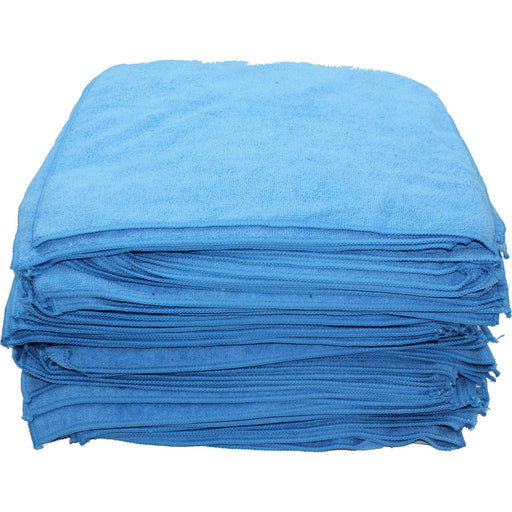 "Microfiber Towels 16"" x 16"" Blue-Microfiber-Hi Tech Industries-HT-20-100B"