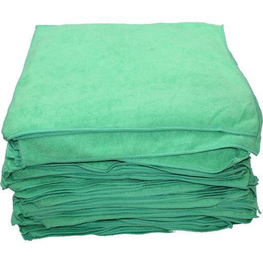 Microfiber Towels 16 x 16 Green-Microfiber-Hi Tech Industries-HT-20-100G