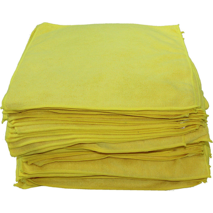 "Microfiber Towels 16"" x 16"" Yellow-Microfiber-Hi Tech Industries-HT-20-100Y"