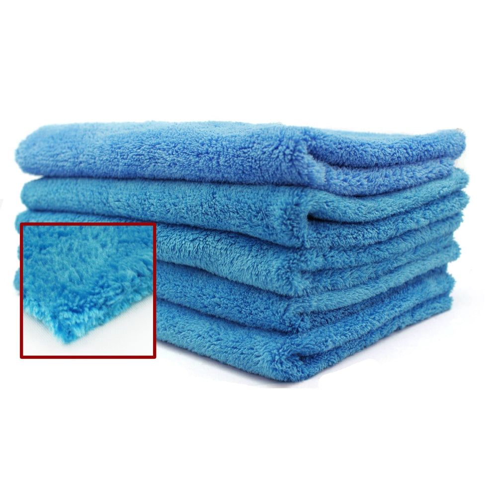 "Edgeless Ultra Plush Blue Microfiber - 16"" x 24"" - 12/bag-Microfiber-Hi Tech Industries-HT-EL1624UP"