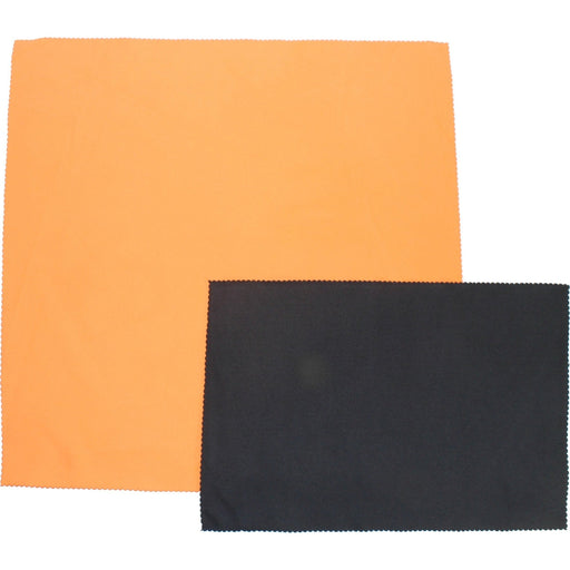 "Orange Suede Microfiber Cloth 16"" x 16""-Microfiber-Hi Tech Industries-HT-SMF1616-O"