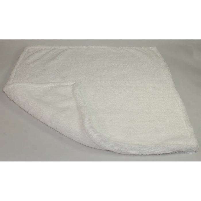 "Ultra Plush 16"" x 16"" White Towel-Synthetic Chamois, Squeegees & Cotton Towels-Hi Tech Industries-HT-UP1616-W"