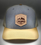 Leather Badge Trucker in Birch