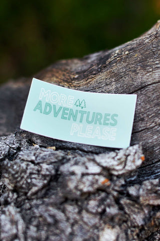 More Adventures Please Decal - Live Life Clothing Co