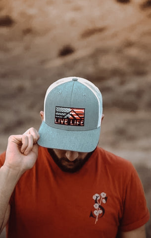 Retro America Hat - Live Life Clothing Co