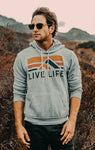 Retro Life Hoodie - Live Life Clothing Co