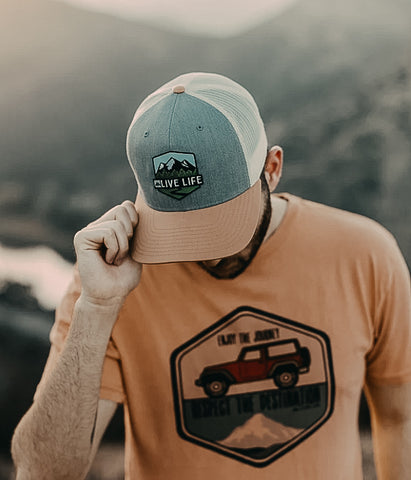 Tri-Color Badge Life Hat - Live Life Clothing Co