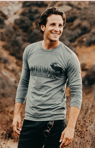 Wapiti Life Long Sleeve - Live Life Clothing Co