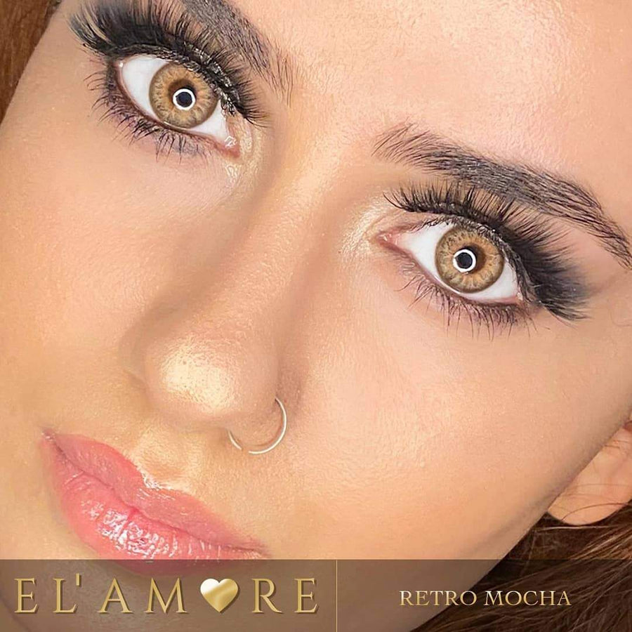 Elamore Mocha color lenses