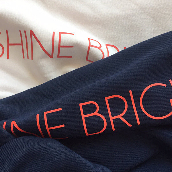 SHINE BRIGHT. sweatshirt oversize (navy) 1 size XS and 1 size S left