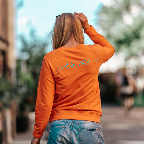 SHINE BRIGHT. sweatshirt oversize (orange) 2 size XS left