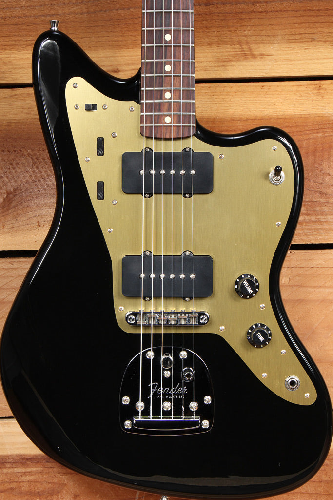 FENDER CLASSIC PLAYER JAZZMASTER Offset BLACK/GOLD CLEAN! 58 62 Replica  22731