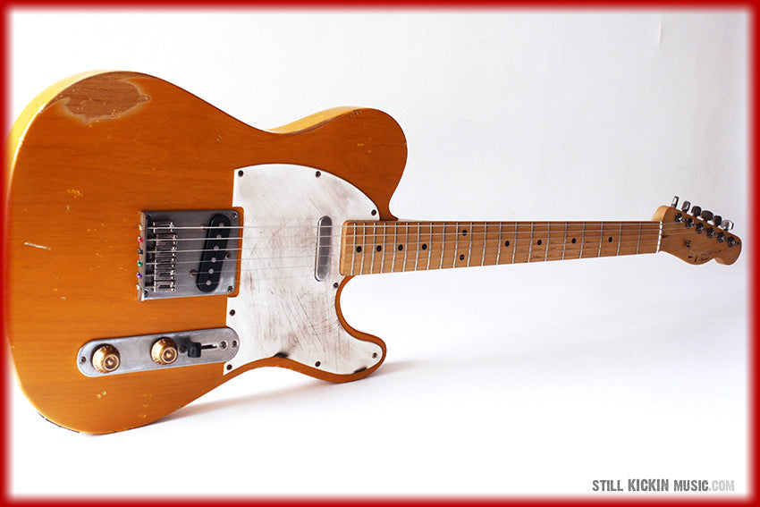Fender Squire telecaster butterscotch tele relic guitar