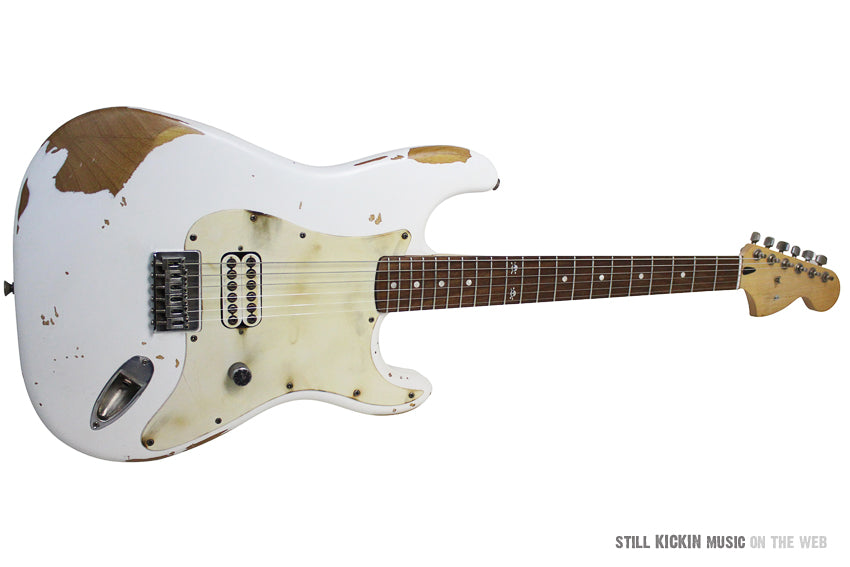 fender tom delonge strat white relic squire