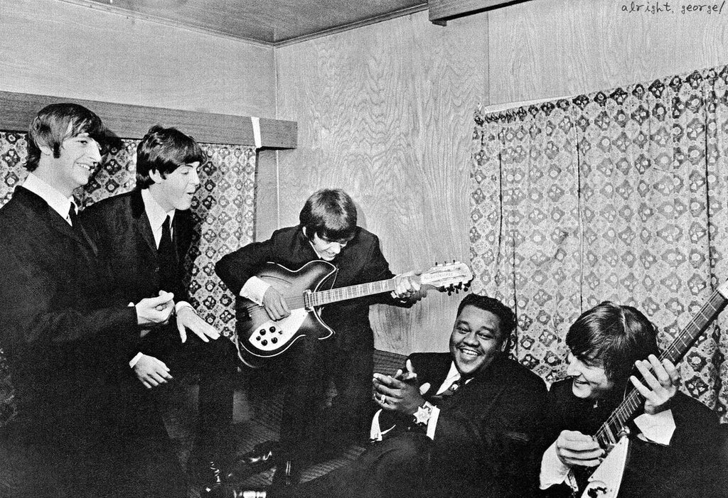 fats domino in picture with the beatles