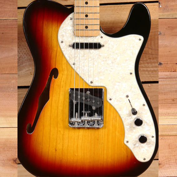 FENDER 69 TELECASTER THINLINE Semi-Hollow F-Hole 6-pound MIM Sunburst Tele! 9721