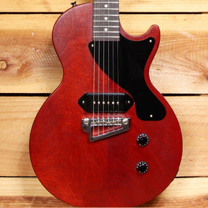GIBSON 2009 LES PAUL JUNIOR Jr Dog Ear P90 Faded Worn Cherry Fralin Hipshot Upgrades! 90306