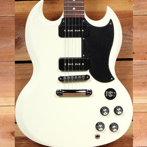 GIBSON SG SPECIAL 60s TRIBUTE Ltd Run 2011 Dual P90 PU Satin Worn White 11346