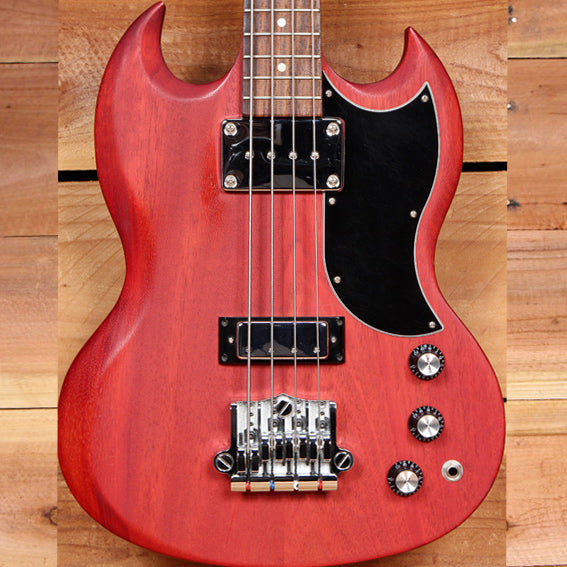 GIBSON SG BASS 2014 Cherry SHORT SCALE Upgraded Babicz Bridge! sub-7 Pound 10197
