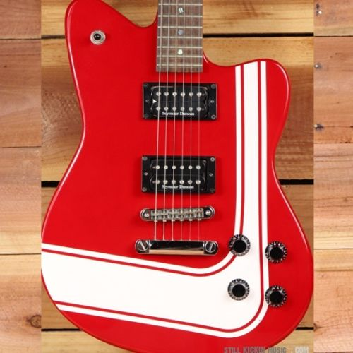 FENDER TORONADO GT HH rare offset model Racing Stripe Red Guitar Clean! 9283