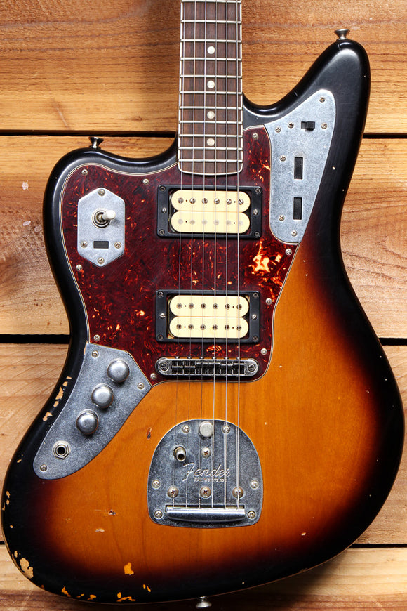 FENDER KURT COBAIN JAGUAR Lefty ROAD WORN + OHSC + Papers Left Handed 98555
