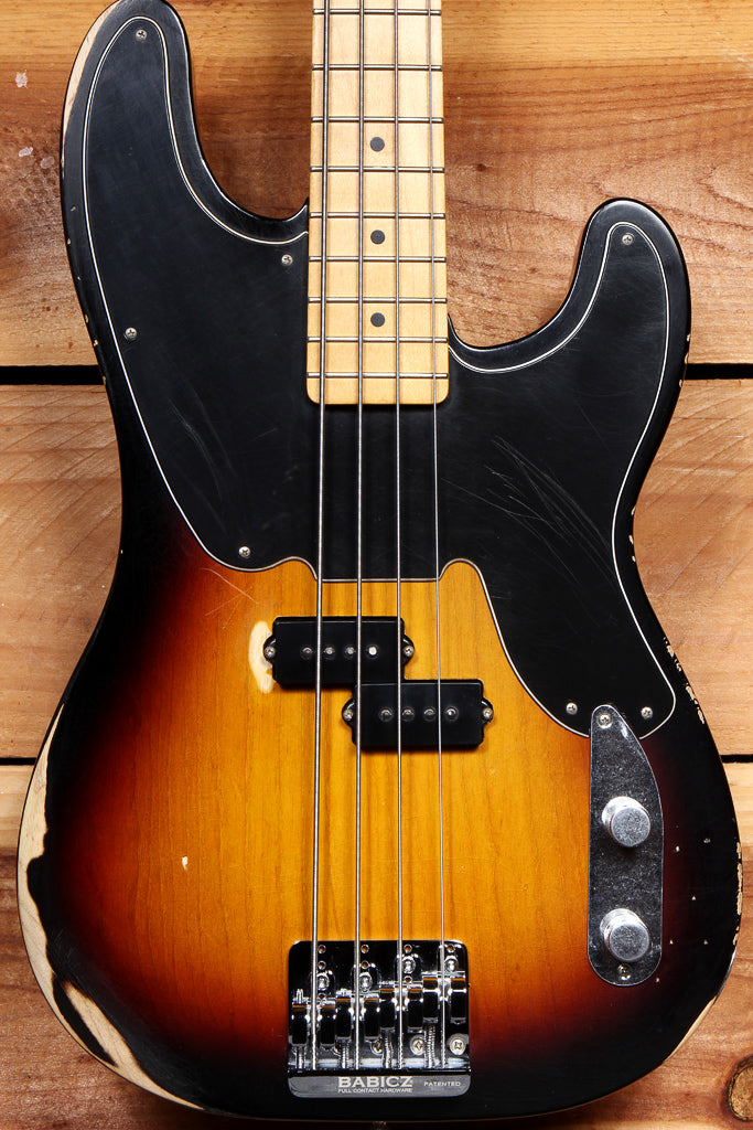 FENDER MIKE DIRNT ROAD WORN '51 Precision Bass BABICZ Bridge Sunburst +Bag 54409