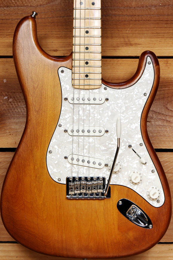FENDER HAND STAINED USA STRATOCASTER 2014 American Strat Nice Cond 08762
