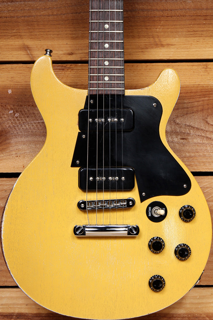 GIBSON 2006 LES PAUL Special Double Cut Cutaway RELIC! Faded TV Yellow P90 60510