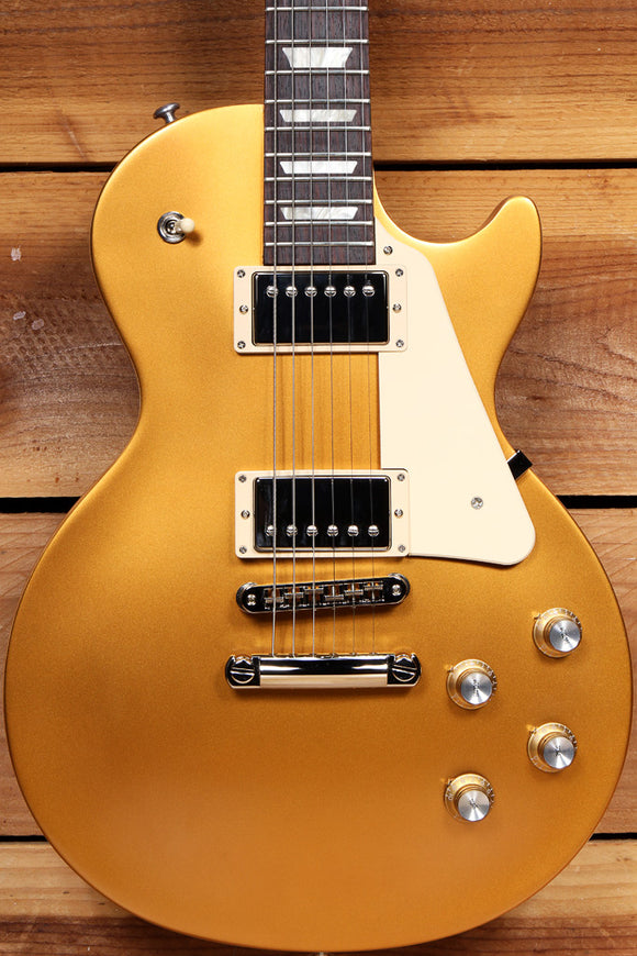 GIBSON 2018 LES PAUL 60s TRIBUTE T Goldtop Satin USA Near Mint! 490 PU 48259