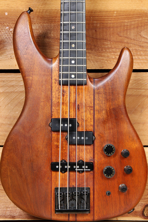 PEAVEY VINTAGE 1991 DYNA-BASS KOA Wood Neck-Thru Active/Passive USA UNITY 06093
