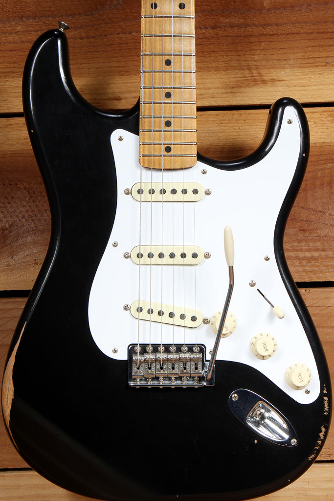 FENDER 2018 CLASSIC SERIES 50s ROAD WORN STRATOCASTER Black Strat Relic 37173