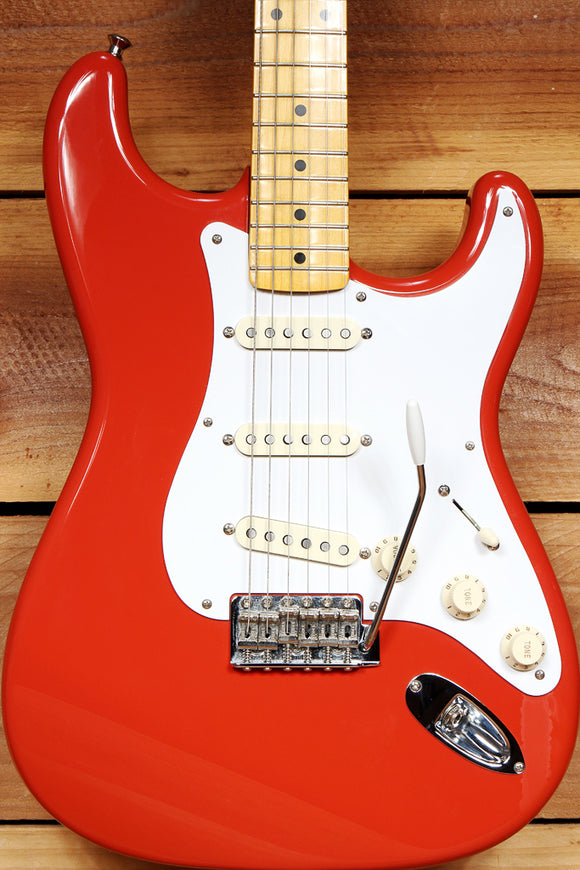 FENDER 50s STRATOCASTER MIJ CIJ Japan Fiesta Red Strat Clean! 2006-08 91862