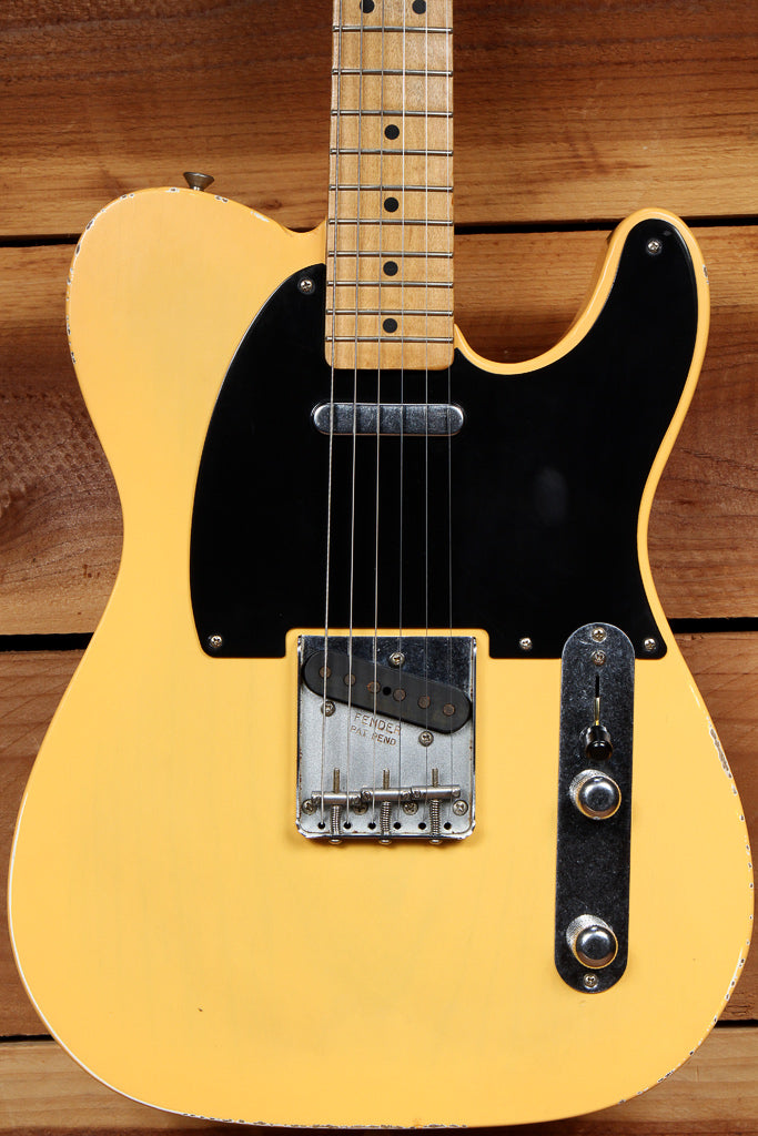 FENDER 2018 ROAD WORN 50s TELECASTER RARE TV Yellow Nice Faded Relic + Bag 65361