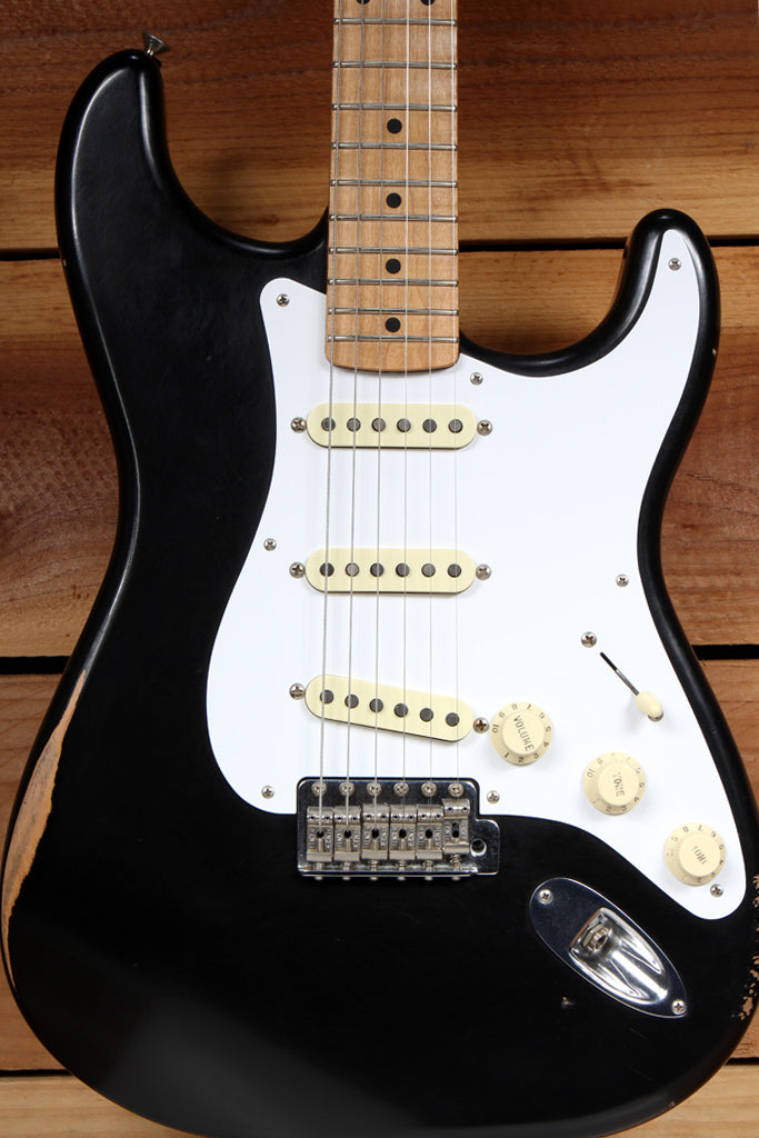 FENDER 2017 CLASSIC SERIES 50s ROAD WORN STRATOCASTER Black Strat Relic 52876