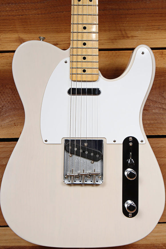 2017 FENDER CLASSIC SERIES 50s TELECASTER White Blonde Tele Clean! + Bag 85949