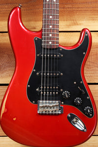 FENDER CLASSIC SERIES 60s STRATOCASTER HSS Rare Red Road Worn Strat Relic 4694