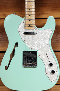 FENDER 69 TELECASTER THINLINE Seafoam Green! Semi-Hollow 6-Pound Tele! 18220