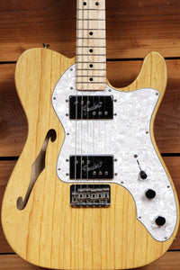FENDER 72 TELECASTER THINLINE DELUXE Mint! Natural Semi-Hollow Tele + Bag 04673